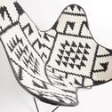 Kave Home Vlinderstoel 'Fly' kleur zwart / wit
