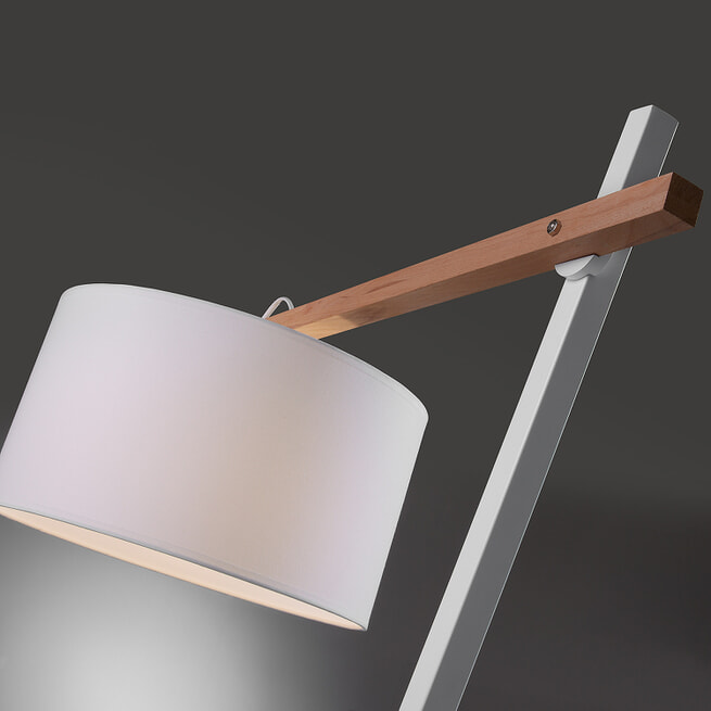 Kave Home vloerlamp 'Aimy', kleur wit