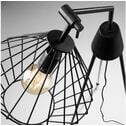 Kave Home Vloerlamp 'Cabana', kleur zwart
