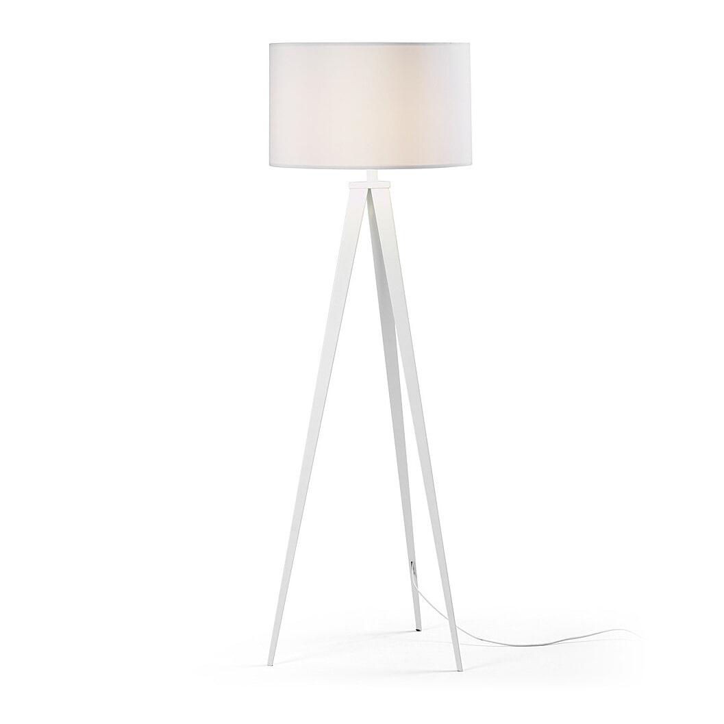 Kave Home Vloerlamp 'Iguazu', kleur wit