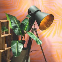 Kave Home Vloerlamp 'Ikaria', kleur Zwart