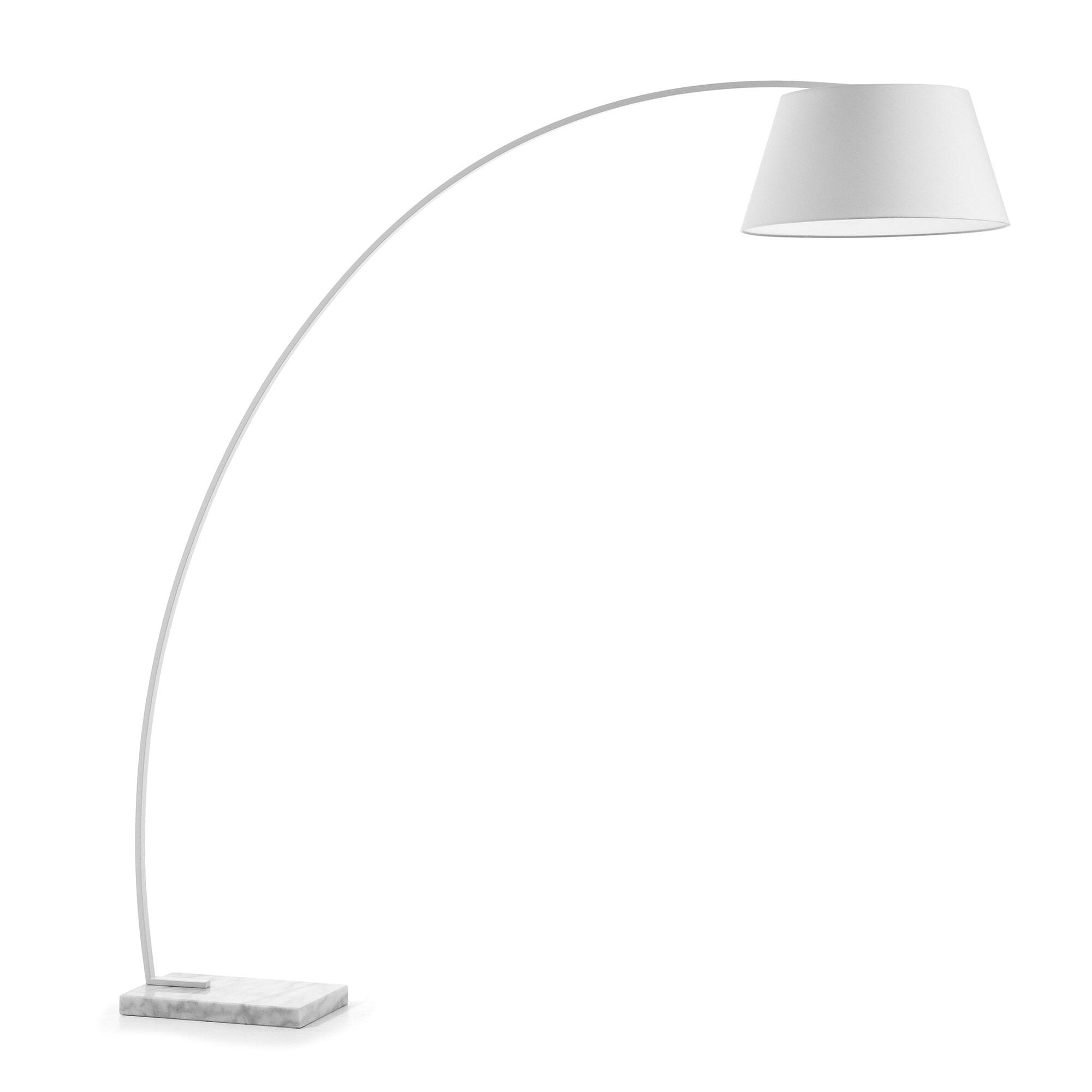 Kave Home Vloerlamp 'Juhe', kleur wit