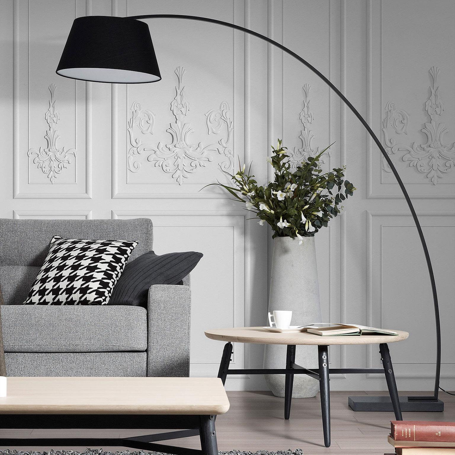 Kave Home Vloerlamp 'Juhe', kleur zwart