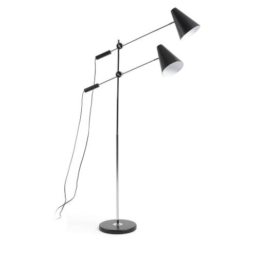 Kave Home Vloerlamp 'Lilian', kleur Zwart