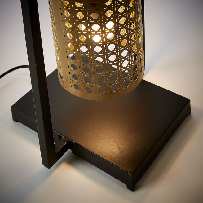 Kave Home Vloerlamp 'Margery' 4-lamps, kleur Zwart