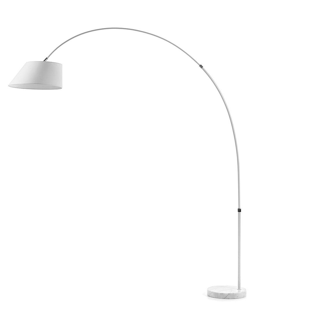Kave Home Vloerlamp 'May', kleur wit