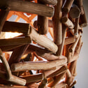 Kave Home Vloerlamp 'Nakito' 100cm hoog, kleur Naturel