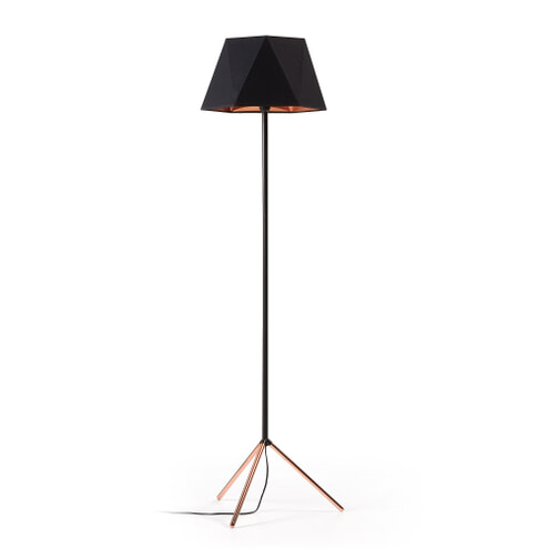 Kave Home Vloerlamp 'Nery', kleur Zwart