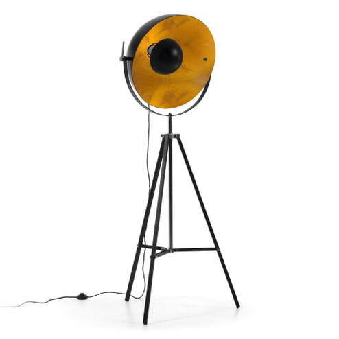 Kave Home Vloerlamp 'Rivage', kleur zwart