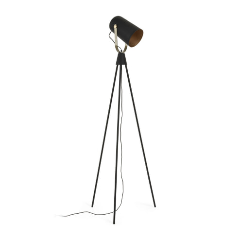 Kave Home Vloerlamp 'Saveria', kleur Zwart
