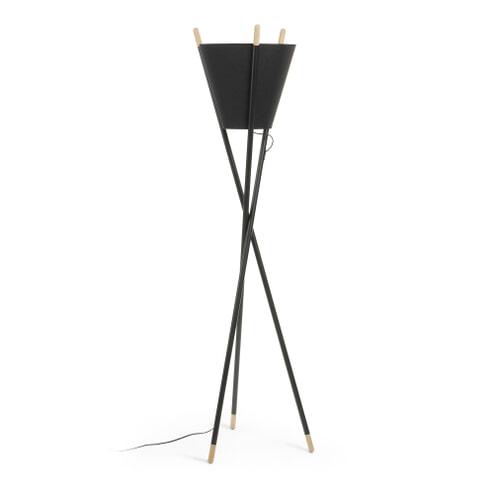 Kave Home Vloerlamp 'Sophia', kleur Zwart