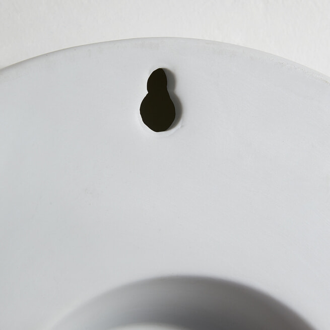 Kave Home Wandklok 'Wana' 25cm, kleur Wit