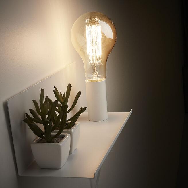 Kave Home Wandlamp 'Hannah' 35cm, kleur Wit
