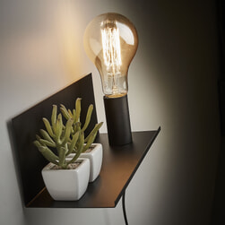 Kave Home Wandlamp 'Hannah' 35cm, kleur Zwart