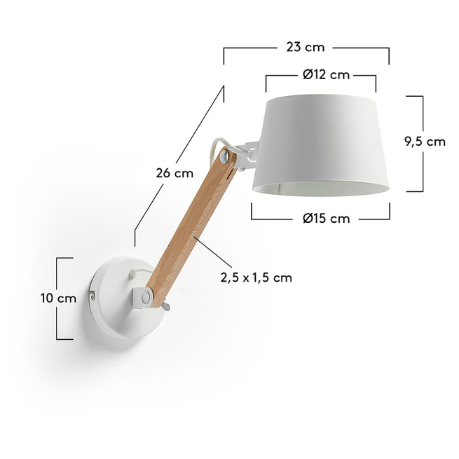 Kave Home Wandlamp 'Muse'
