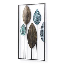 Kave Home Wandpaneel 'Leaves' 104 x 54cm, kleur Multicolor