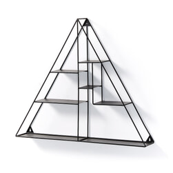 Kave Home Wandrek 'Nils' driehoek, kleur Zwart