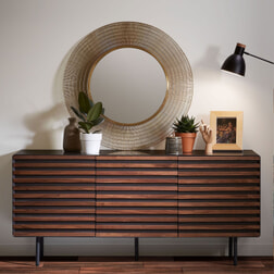 Kave Home Dressoir 'Kesia' 162cm, kleur Donkergrijs