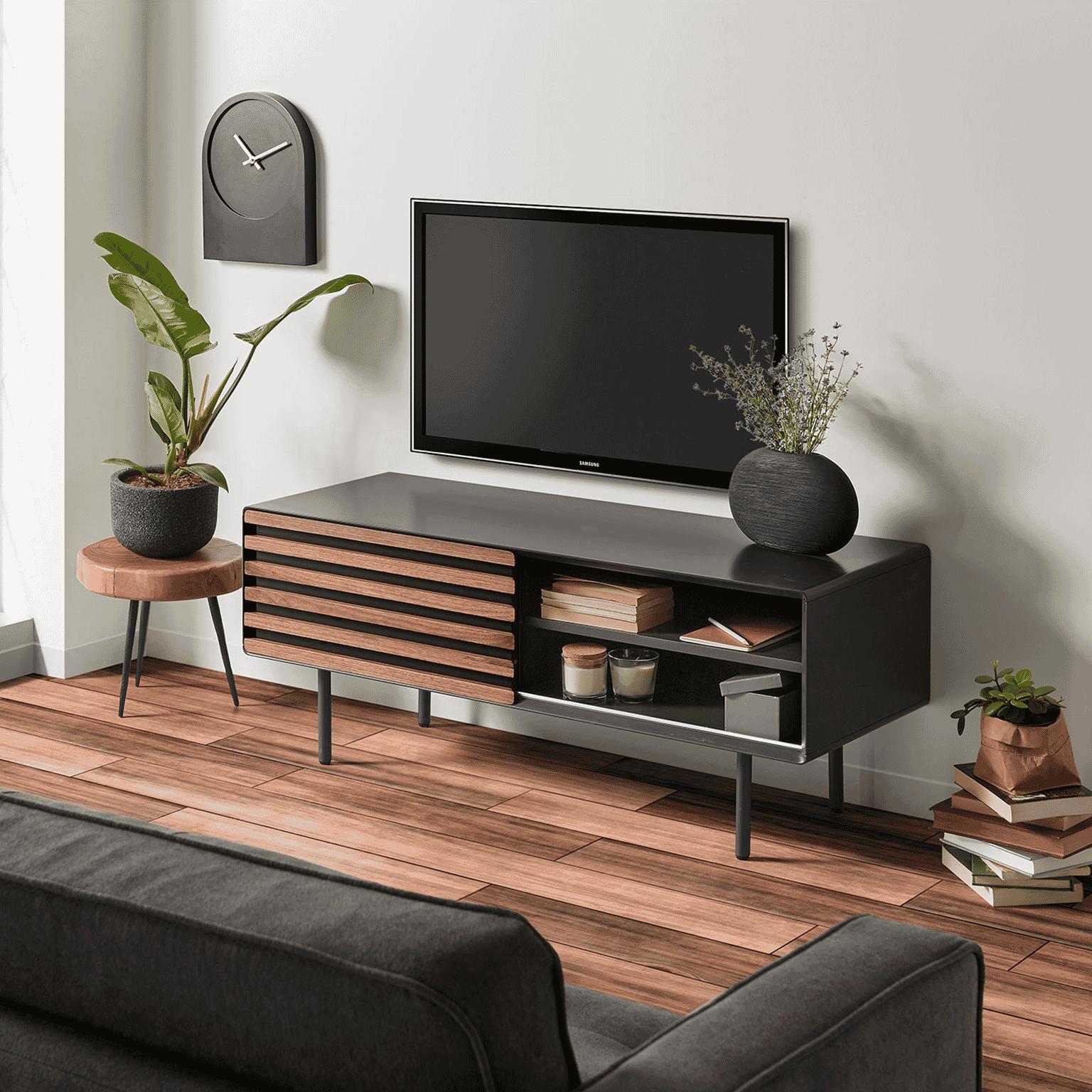 Nette Tv Kast.Kave Home Tv Meubel Kesia 120cm Mh004l02 Meubelpartner