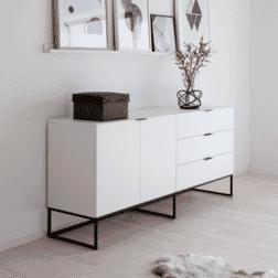 Interstil Dressoir 'Kobe' 180cm, kleur wit