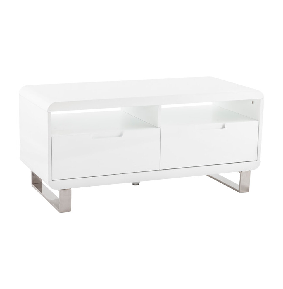 Tv Kast Wit Op Wielen.Kokoon Design Tv Meubel Kubo Ct00250wh Meubelpartner