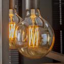 Kooldraadlamp 'Bol XL' E27 LED 6W goldline Ø12,5cm, dimbaar