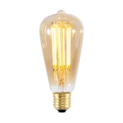 Kooldraadlamp 'Peer' E27 LED 4W goldline 14cm, dimbaar