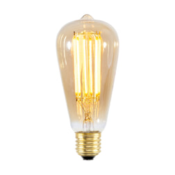 Kooldraadlamp 'Peer' E27 LED 4W goldline 14cm, dimbaar