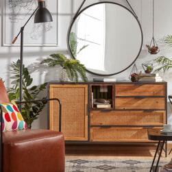 Kave Home Dressoir 'Kyoko' 120cm, kleur Zwart