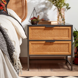 Kave Home Nachtkastje 'Kyoko' 38 x 50cm, kleur Zwart
