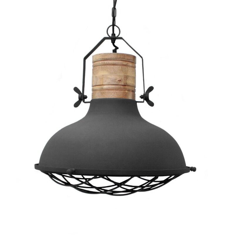 LABEL51 hanglamp 'Grid' 52x52x48 cm, kleur Zwart