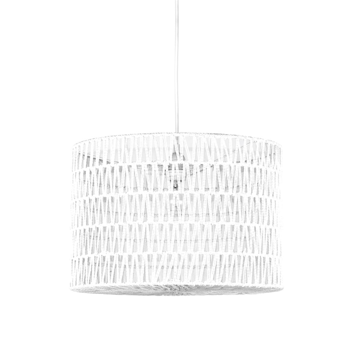 LABEL51 hanglamp 'Stripe' 45cm, kleur wit
