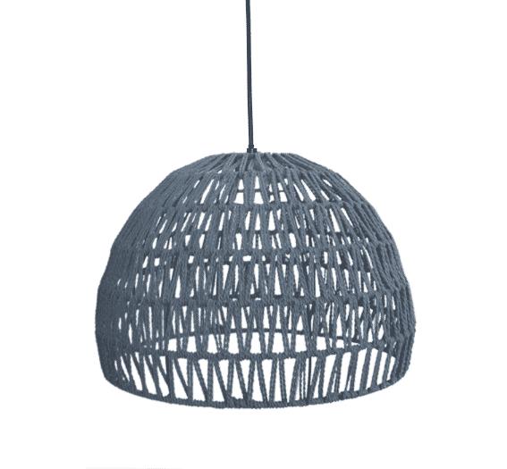 LABEL51 hanglamp 'Touw' small, kleur Lichtgrijs