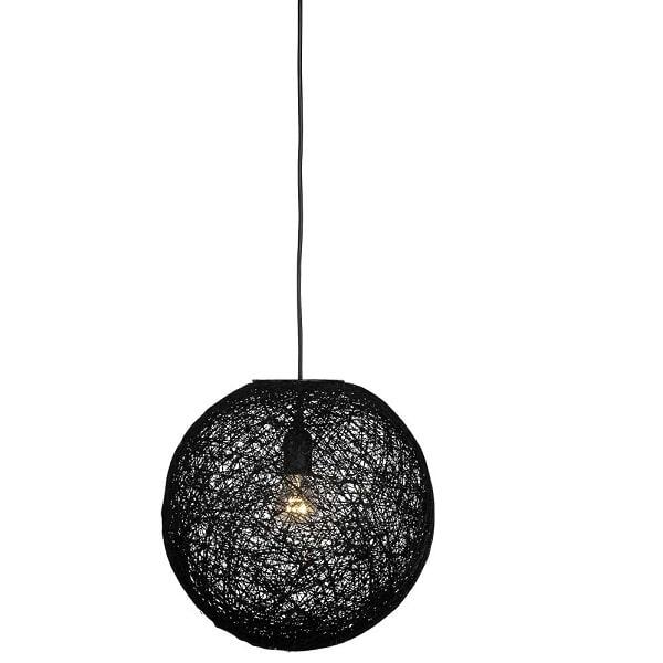 LABEL51 hanglamp 'Twist' 60 cm, kleur zwart