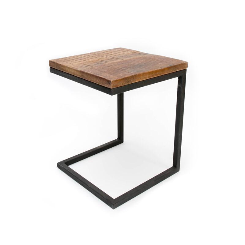LABEL51 laptoptafel 'Box Industrieel' 40 x 40 x 50cm
