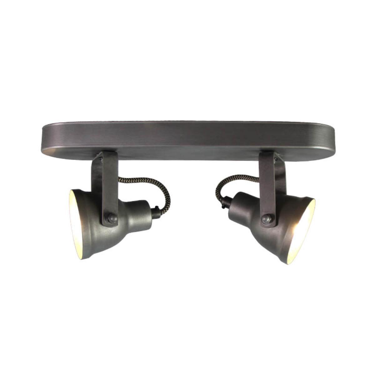 LABEL51 LED Spot 'Max' 2-lichts, kleur Burned Steel