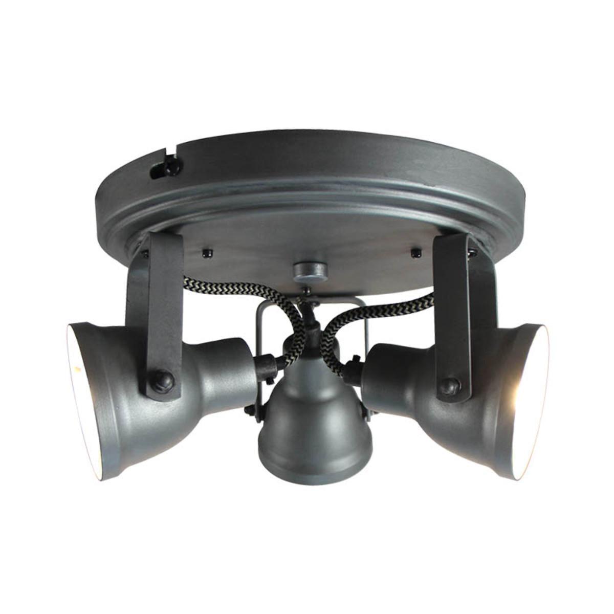 LABEL51 LED Spot 'Max' 3-lichts, kleur Burned Steel