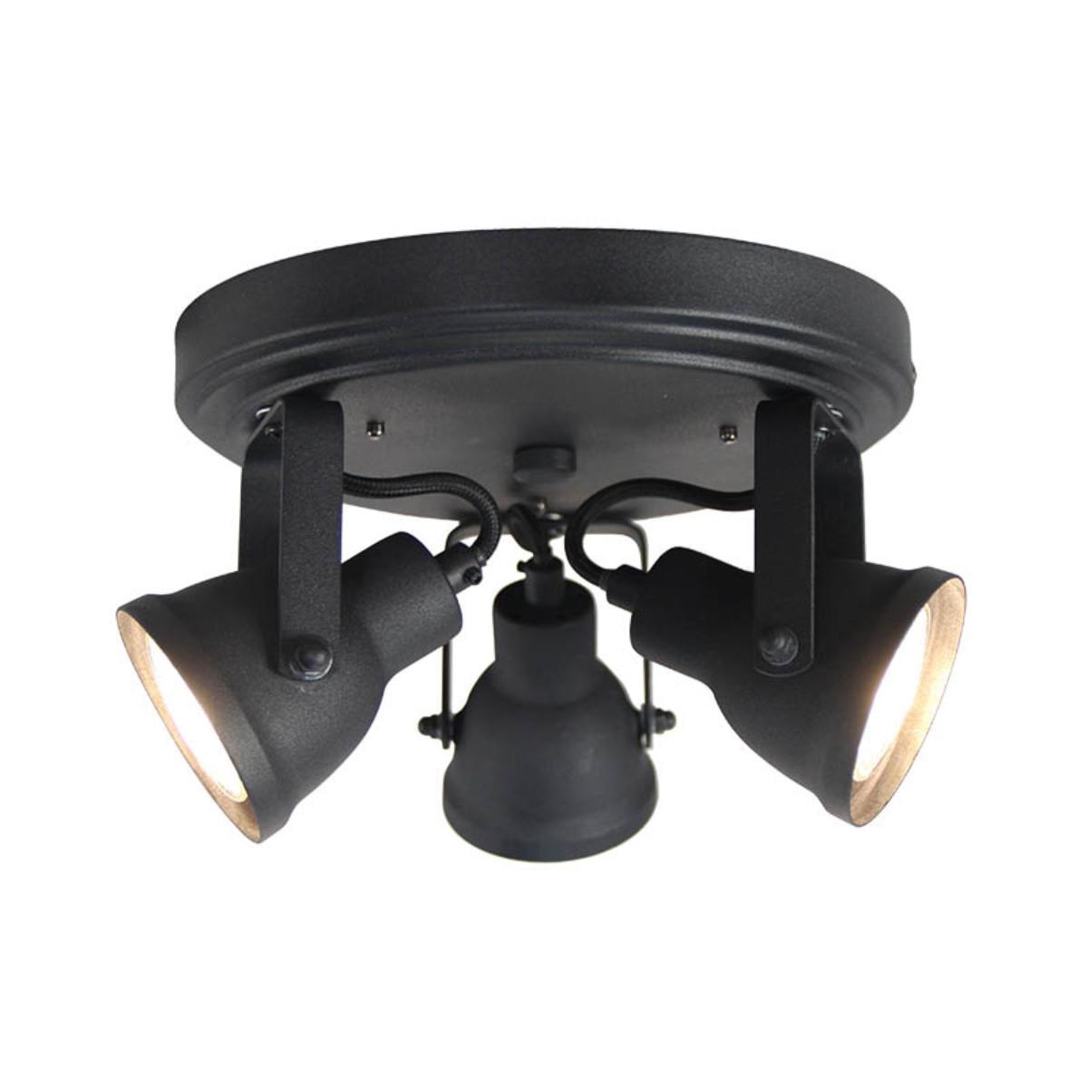 LABEL51 LED Spot 'Max' 3-lichts, kleur Zwart