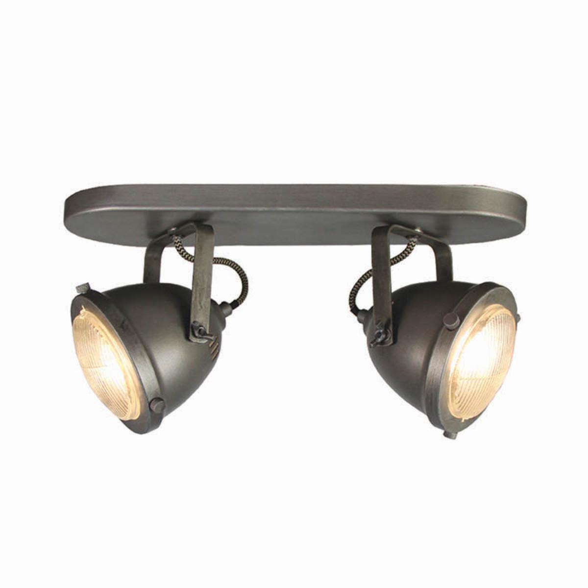 LABEL51 LED Spot 'Moto' 2-lichts, kleur Burned Steel