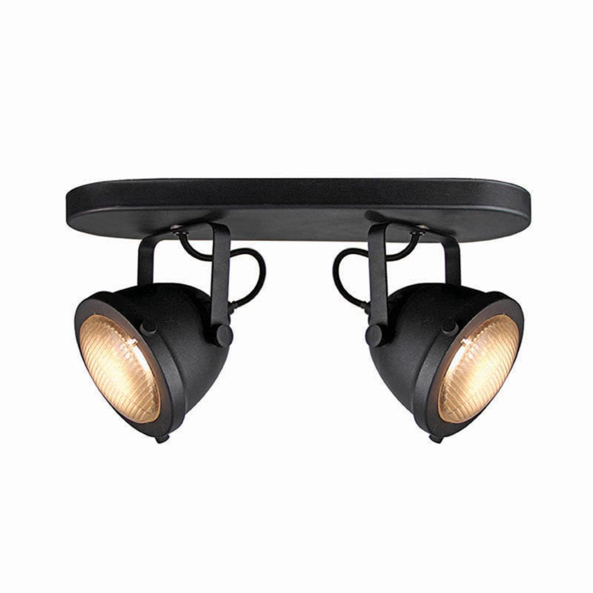 LABEL51 LED Spot 'Moto' 2-lichts, kleur zwart