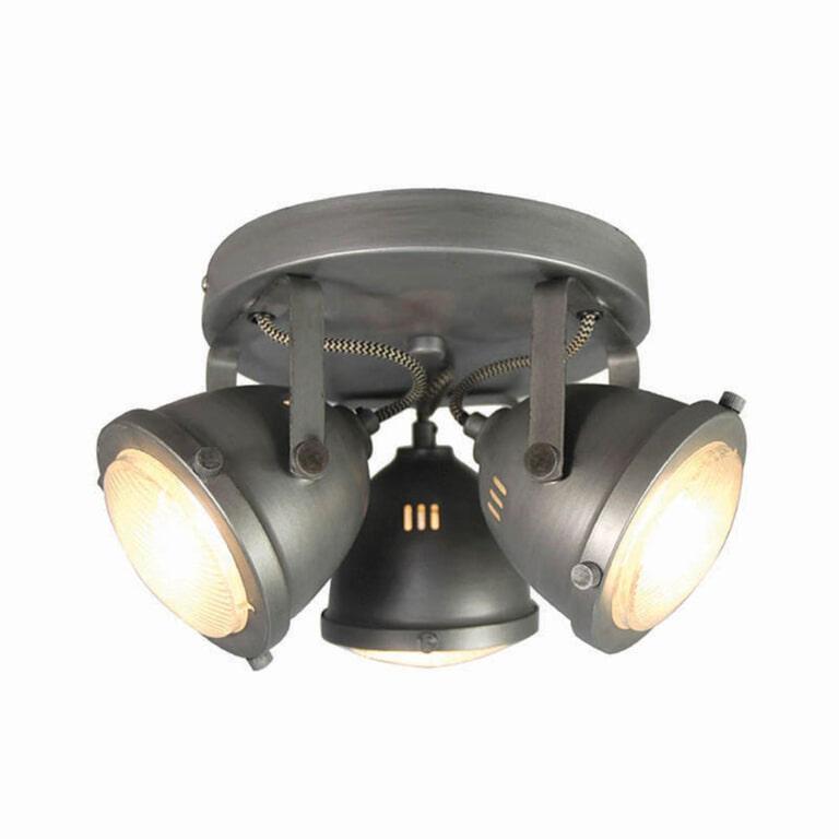 LABEL51 LED Spot 'Moto' 3-lichts, kleur Burned Steel