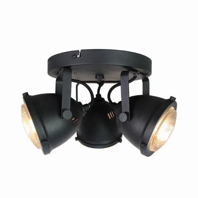 LABEL51 LED Spot 'Moto' 3-lichts, kleur zwart