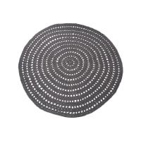 LABEL51 Rond Vloerkleed 'Knitted' 150cm, kleur antraciet