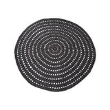 LABEL51 Rond Vloerkleed 'Knitted' 150cm, kleur zwart