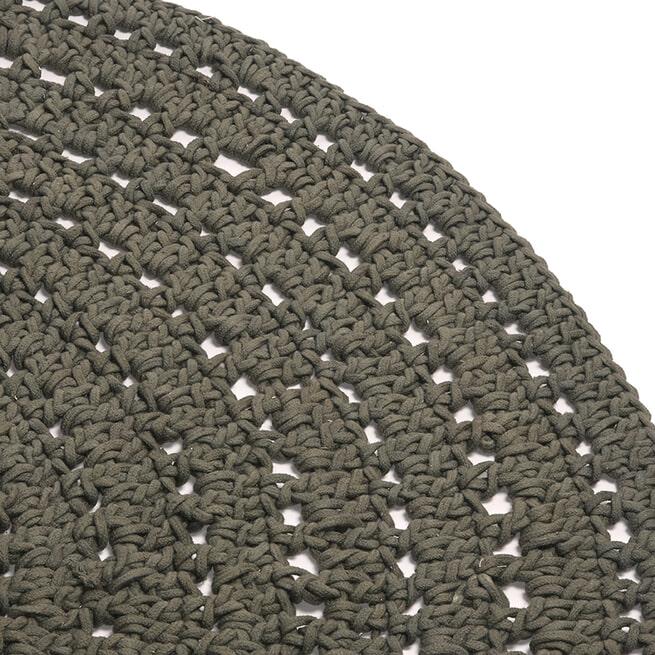 LABEL51 Rond Vloerkleed 'Knitted' 150cm