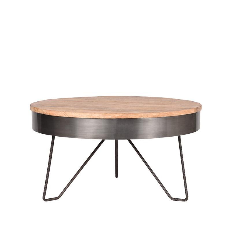 LABEL51 salontafel 'Saran' 80x80x43 cm, kleur Metaal