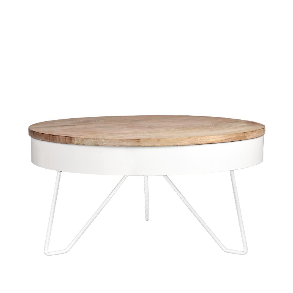 LABEL51 salontafel 'Saran' 80x80x43 cm, kleur Wit