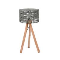 LABEL51 tafellamp 'Stripe' 32x32x69 cm, kleur Grijs