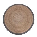 LABEL51 Vloerkleed 'Jute' 150 cm, kleur Naturel/Zwart