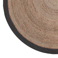LABEL51 vloerkleed 'Jute' 150 cm, kleur Zwart